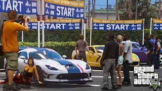GTA 5 Car Show Car Meet Up with Real Car Mods! -
