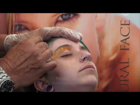 How to use hard wax: eye brow waxing