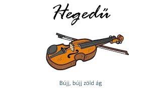 Hangszer ovi - Bújj, bújj zöld ág (hegedű) / Hungarian children song (cat, cow, dog, animal)