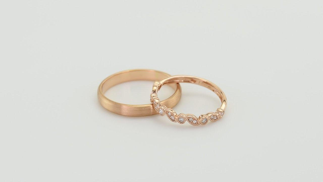 Zlaty Vintage Prsten S Diamanty A Zlaty Komfortni Snubni Prsten Haik