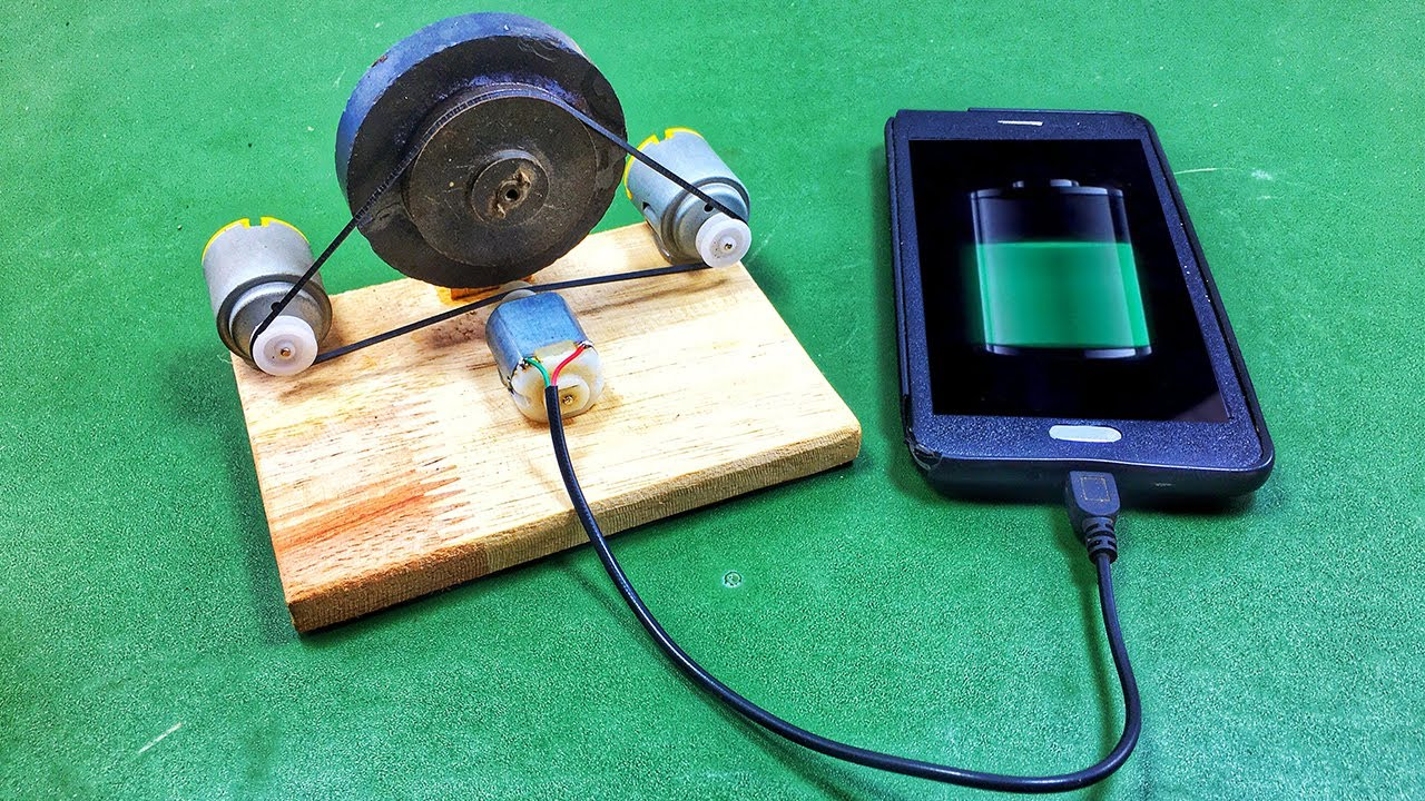Make a Free Energy Mobile Phone Charger With Self Running Science Project