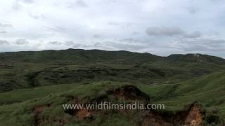 Panaromic view of the rain soaked township of Cherrapunji, Meghalaya