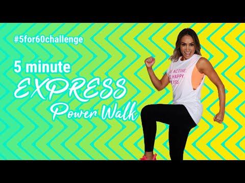 5 Minute Fat Burner | EXPRESS Power Walk | HIGH sweat ��