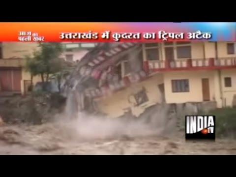 Rains, Flood, and Landslide in Uttarkashi, Kedarnath   Uttarakhand Flood Video