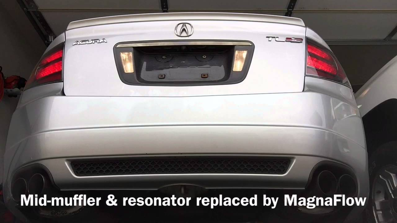 acura tl type s exhaust before and