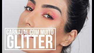 CARNAVAL: Make Rosa com DOURADO • Bloquinho