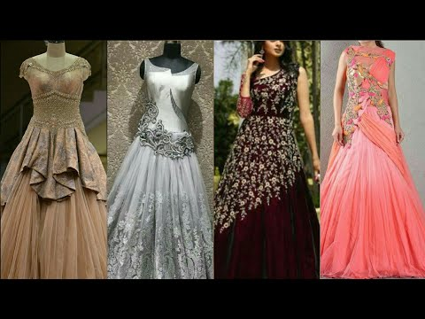 Top Class And Elegant Beautiful Style Indo Western Designer Wedding Gown/Flare Length Maxi For Girls