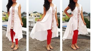 DIY Designer High Low Kurti Cutting And Stitching Tutorial