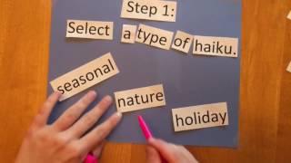 How to write a haiku!