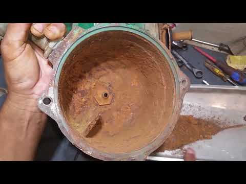 Falta de mantenimiento de una bomba centrifuga de1hp