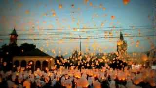 Amazing Guiness Book Record - 12.700 chinesse sky lanterns in Iasi, Romania (full HD)