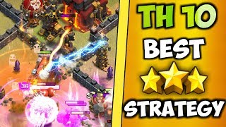 USE SEIGE MACHINE & GET 3 STARS... | Th10 Best 3 Stars Attack Ever! | Clash Of Clans