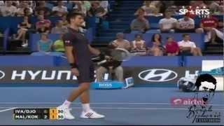 Novak Djokovic Imitates Ana Ivanovic // Very Funny // HOPMAN CUP 2013 [HD]