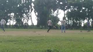 Anesh playing cricket with cousins. 2019