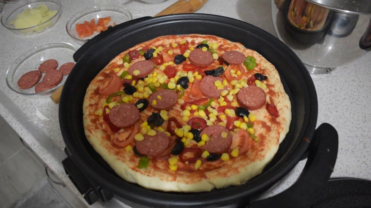 Electric Pizza Maker   Unboxing & Review   Electric Pizza Pan / MultiPurpose Cooker   Review Vibes