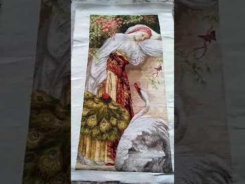 Вышивка девушка крестом