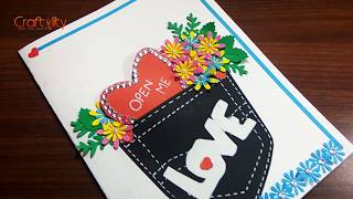 How to make Valentine Special Greeting card | Handmade greeting card | DIY Greeting card