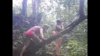 Crazy Slippery Walk to Waterfall in Puerto Rico