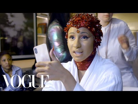 Cardi B Gets Dressed for the Met Gala | Vogue