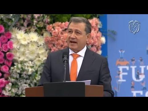 Discurso de Ernesto Macías durante la posesión presidencial de Iván Duque
