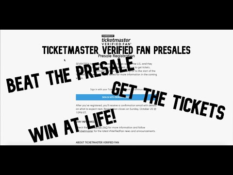 HOW TO SUCCEED AT TICKETMASTER VERIFIED FAN PRESALES