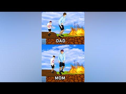 DAD vs. MOM! 😂 #shorts