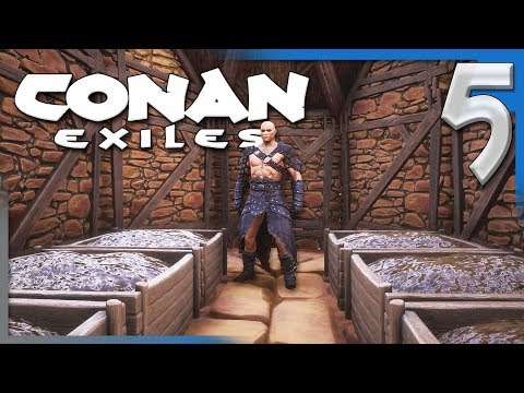 BRIMSTONE, STEELFIRE, & COMPOST! | Conan Exiles Multiplayer Let's Play/Gameplay S4E5
