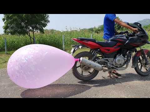 Balloon Vs Bike Silencer - Super Big Size Balloon Create