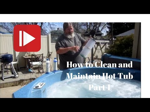 How to Drain and Clean a Hot Tub Part 1