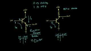 Comparing the buffer and inverter circuits | Digital electronics (10 of 10)