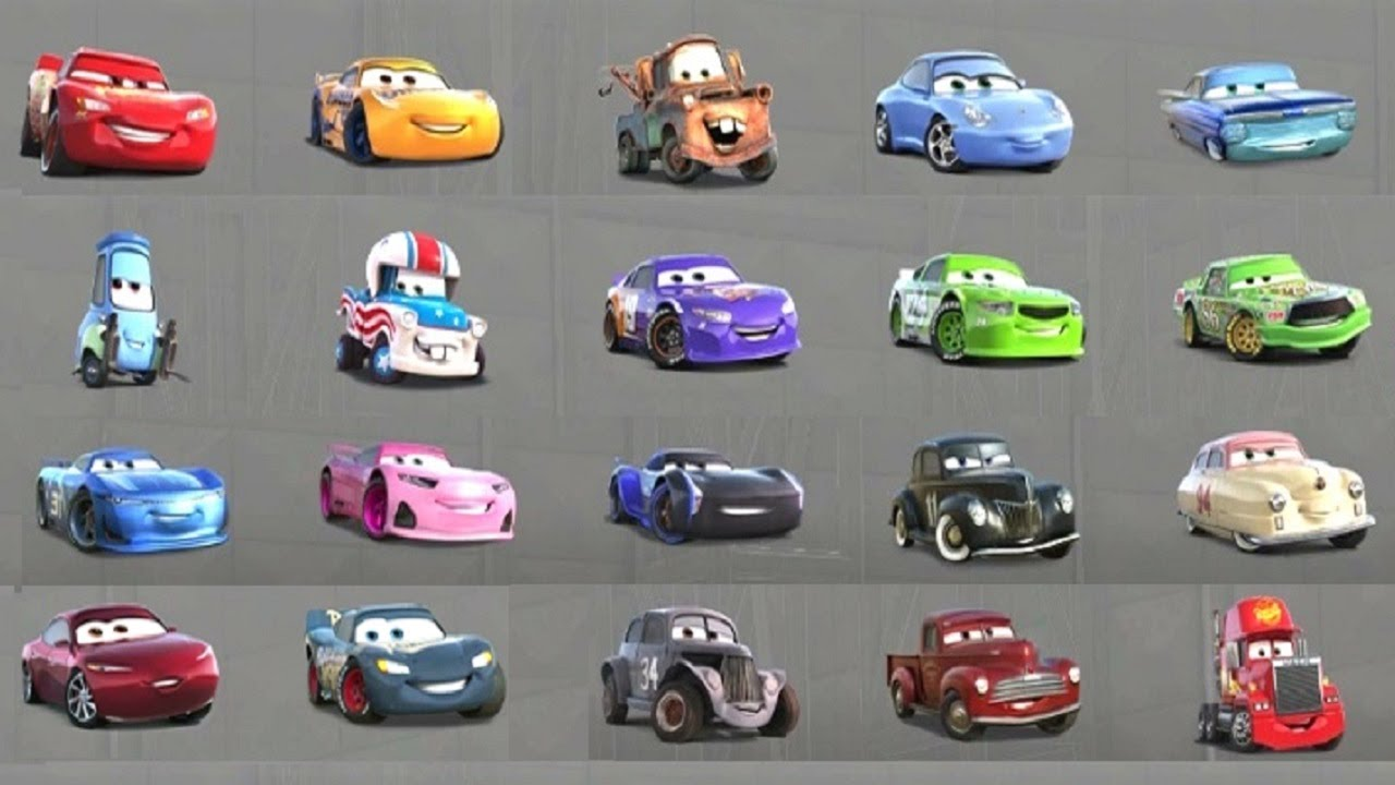 Cars 3 All Characters Unlocked Gameplay With All Cars Youtube