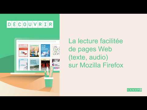 Faciliter la lecture de pages web (texte, audio) sur Mozilla