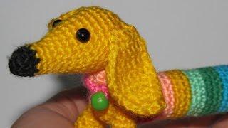 СОБАКА (щенок) из Rainbow Loom Bands.Браслеты из резинок Фигурки Подарки Поделки своими руками