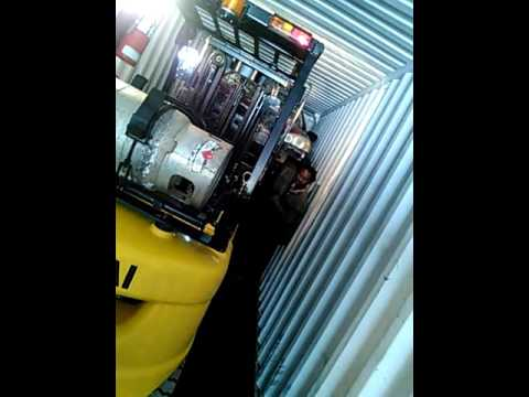 loading 45 ft container to ship to nigeria from halifax nova scotia