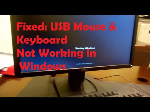 Fixed USB Mouse Amp Keyboard Not Working