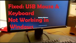 fixed usb mouse keyboard not working
