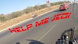 Biker helps stranded biker