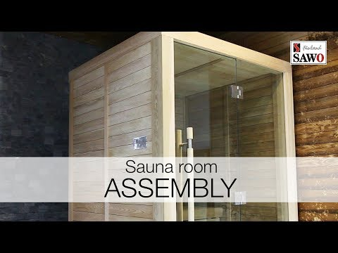 SAWO Glass Front Sauna Room Assembly: Part 1