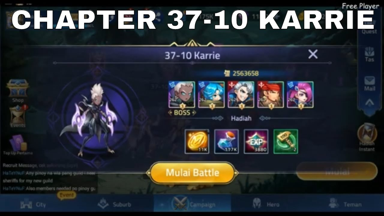 CAMPAIGN 37-10 KARRIE ► MOBILE LEGENDS ADVENTURE