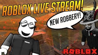🔴Live🔴Roblox JAILBREAK! NEW ROBBERY SOON?! SIMON SAYS! - Playing with SUBS🔴Live🔴