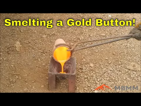 How To Smelt A Gold Button By Roasting Sulfide Concentrates