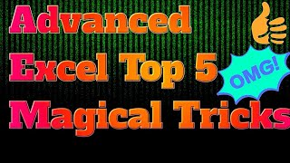 Advanced Excel Top 5 Magical 🔥Tricks in Hindi-Part-2