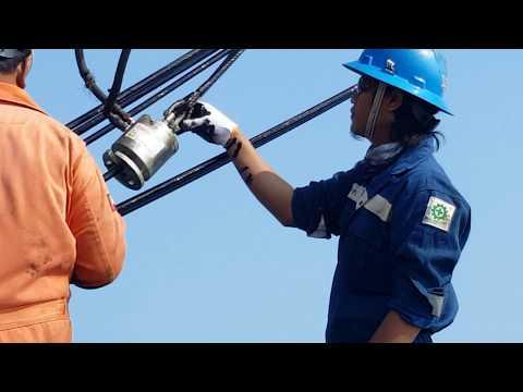 Cara Greasing wirerope pada pedestal crane offshore