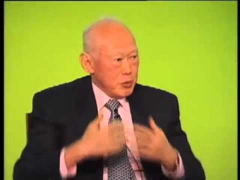 Lee Kuan Yew speaking at INSEAD in 2007 on leadership and global politics