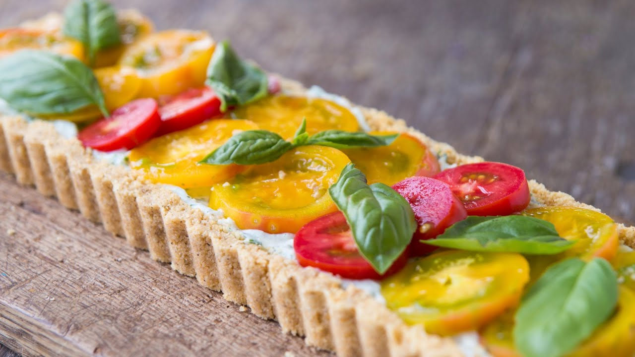 Easy Tomato Tart Recipe — Dishmaps