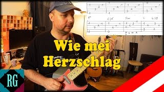 ★ WIE MEI HERZSCHLAG ► André Heller - Gitarre lernen mit TABS (Austropop Lesson+Cover)