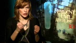 Interview with Milla Jovovich for Resident Evil: Afterlife 3D
