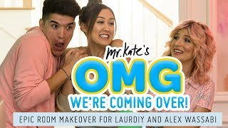 LaurDIY and Alex Wassabi\'s Epic Two-Tone Room Makeover!