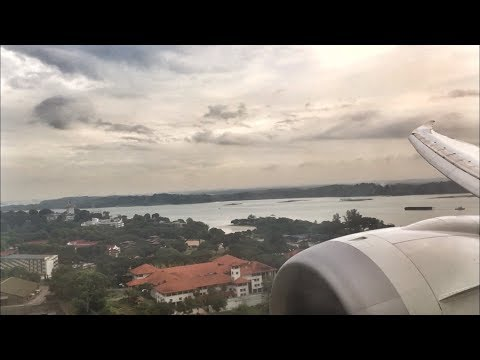 Scoot Boeing 787-9 ENGINE VIEW Landing in Singapore