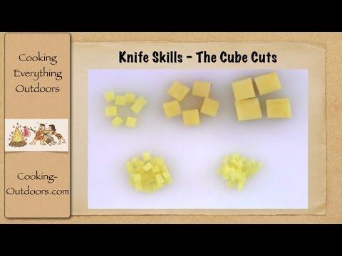 knife skills - cube cuts
